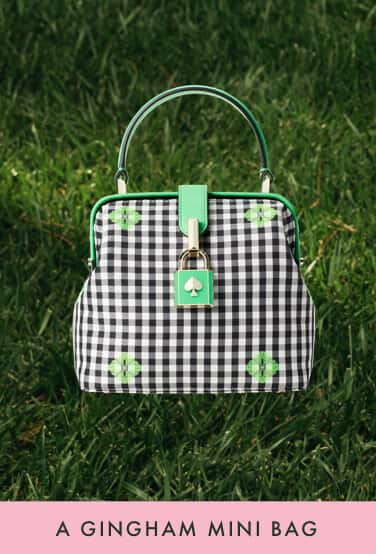 a gingham mini bag