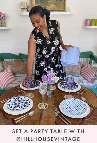 set a party table with @hillhousevintage