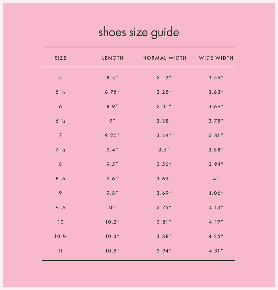 Kate Spade Clothing Size Chart