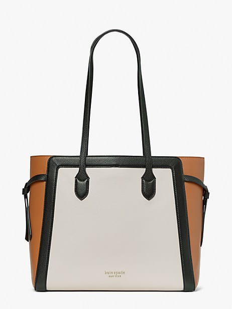 knott colorblocked large tote