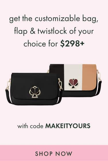 get the customizable bag, flap & twistlock of your 